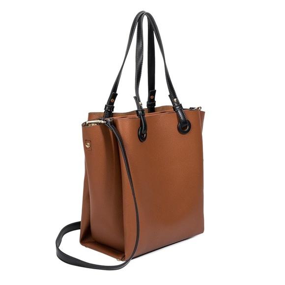Melie Bianco Handbags - Devyn Saddle Tote